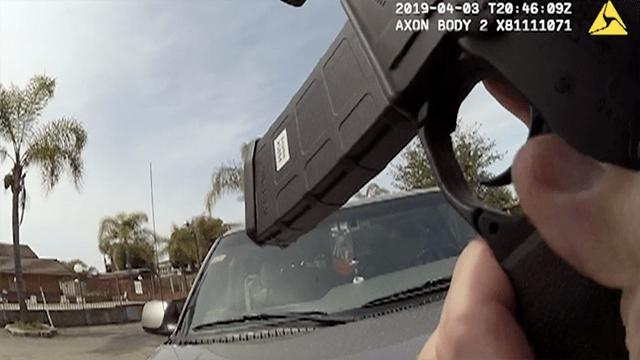 Image from police-worn body camera at San Ysidro shooting