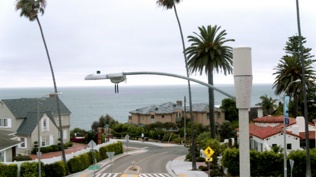 A smart streetlight in La Jolla