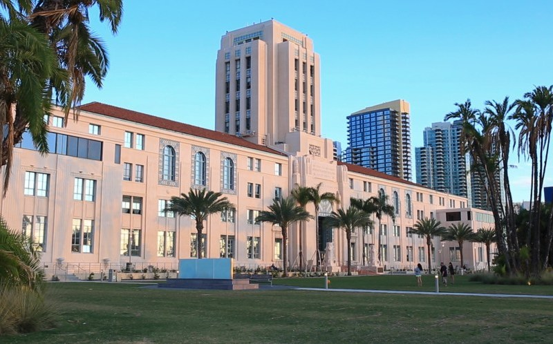 The San Diego County Administration building is shown in this image from Nov. 8, 2015.
