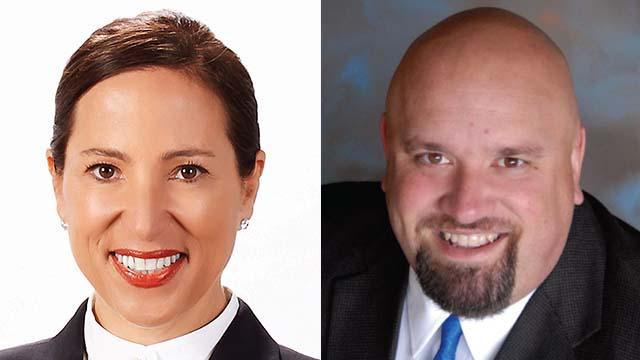 Lt. Gov. Eleni Kounalakis and La Mesa Mayor Mark Arapostathis.