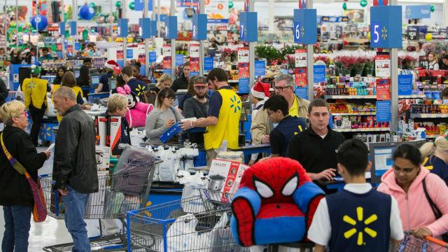 Black Friday shopping at Walmart