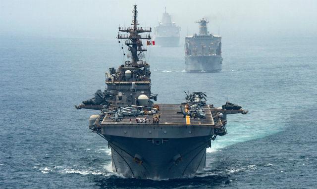 USS Boxer in the Strait of Hormuz