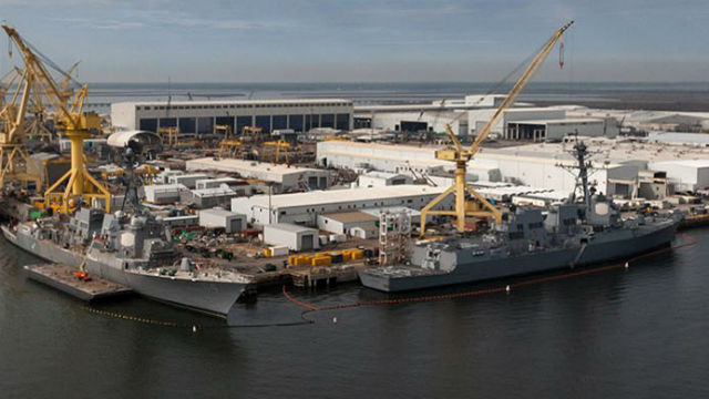 Destroyers under construction