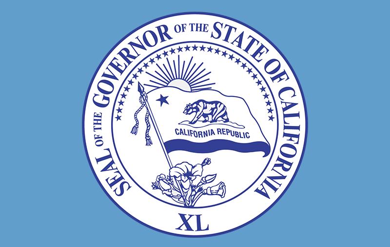 California governor's seal.