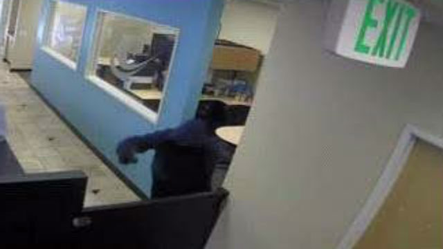 Surveillance image of the robber
