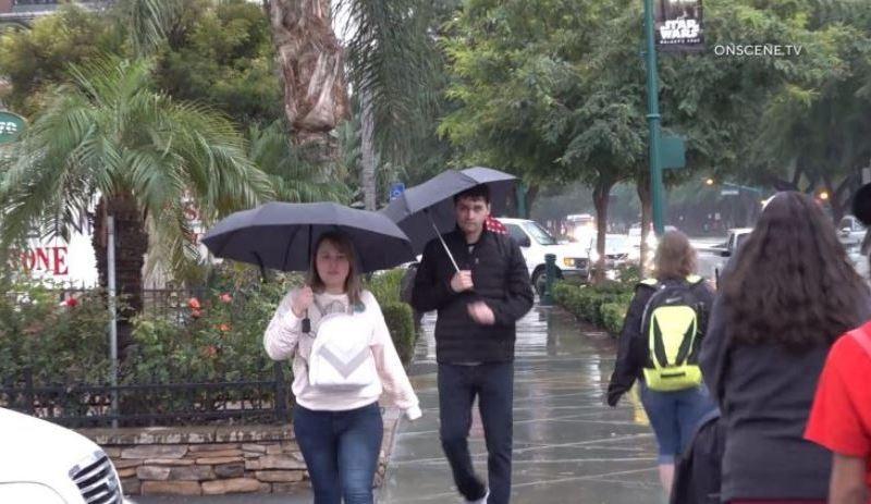 Light rain in Orange County