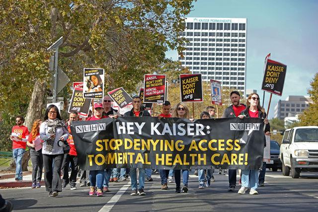 Kaiser Permanente workers picket