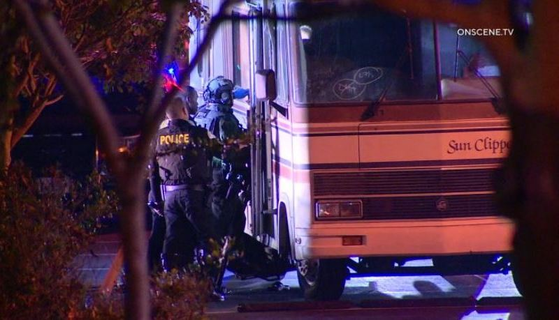 Officers enter stolen RV