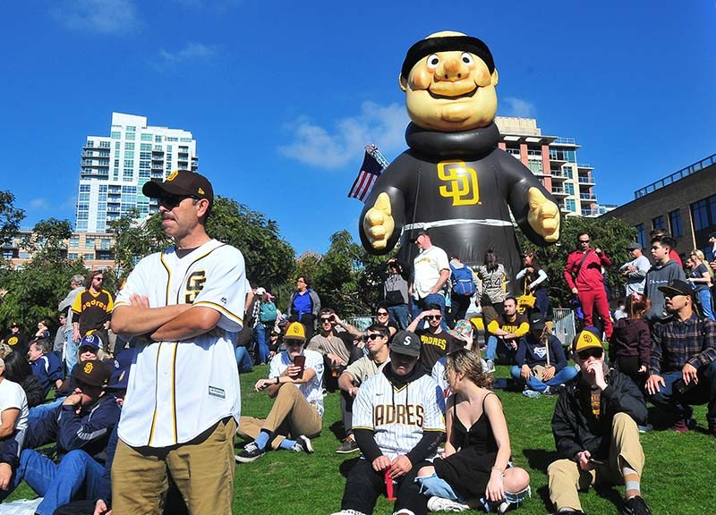 Fans, many already dressed in the new brown and gold color theme, enjoyed the sunshine and look at the new season.