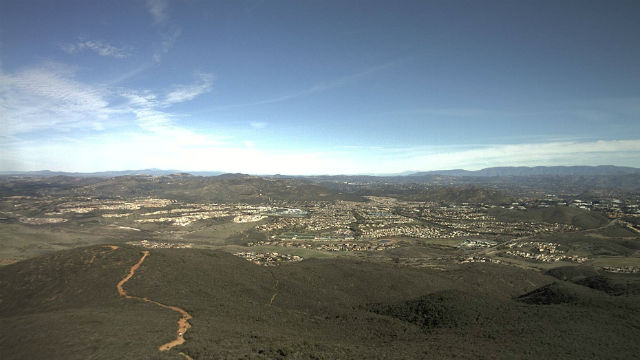 Blue skies from Black Mountain