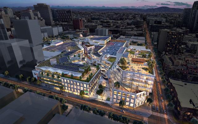 Architect's rendering of Horton Plaza redevelopment