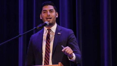 Ammar Campa-Najjar said he supported raising corporate tax rates from the current 21% to the 35% of the Reagan years.