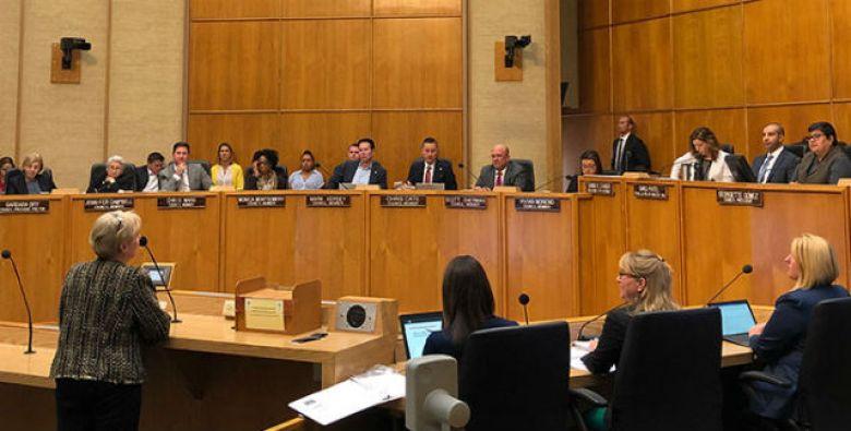 A City Council meeting