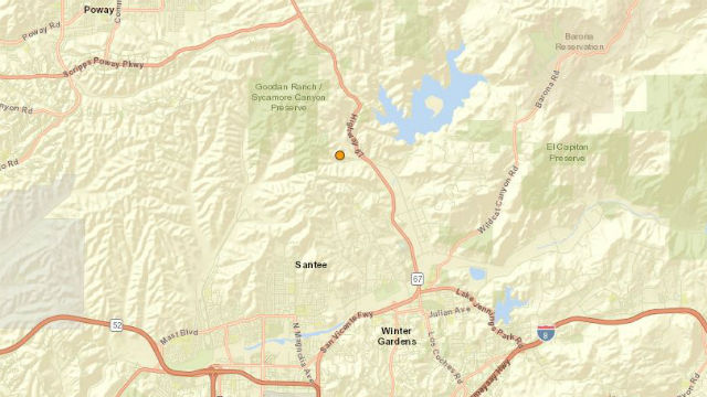 Lakeside quake location