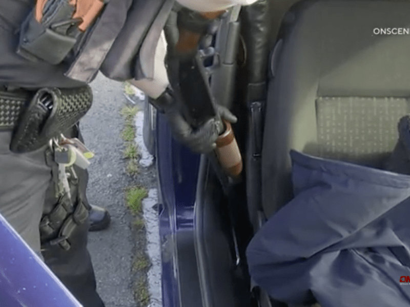 Shotgun removed from car
