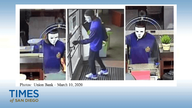 Union Bank robbery suspect