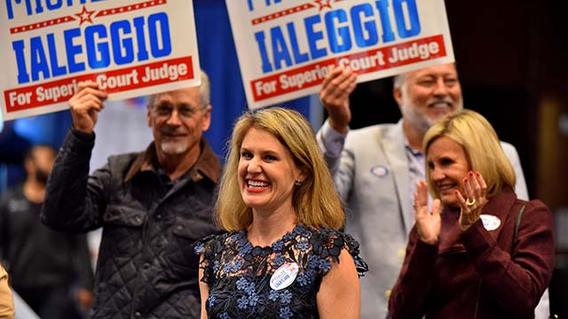 Michelle Ialeggio trounced her lone rival for Superior Court judge by 50 points.