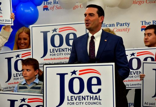San Diego City Council candidate Joe Leventhal headed for a November runoff in District 5.