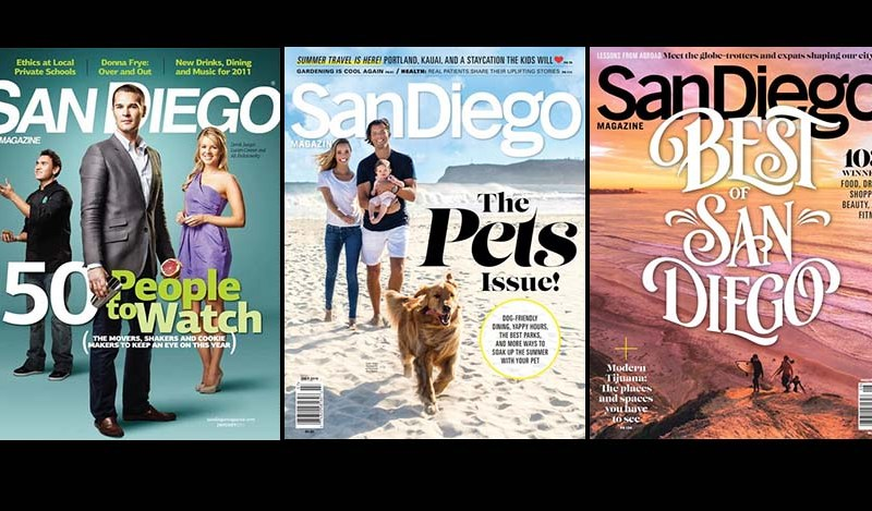 """San Diego Magazine, sold at many local grocery stores, was known for its list issues and annual """"Who to Watch"""" editions."""