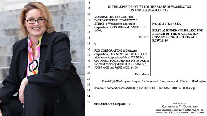 Seattle attorney Catherine C. Clark wrote the amended WASHLITE suit against Fox News to narrow its scope. Photo via loccc.com