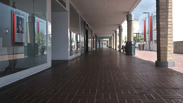 Mission Valley Mall is empty