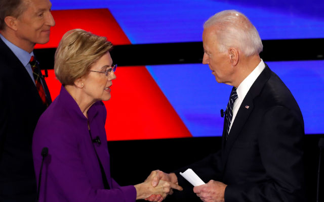 Joe Biden with Elizabeth Warren