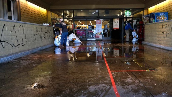 A Vons on La Mesa Boulevard in the La Mesa Springs Shopping Center is a site where looting and damage was done by a group of young people after an afternoon