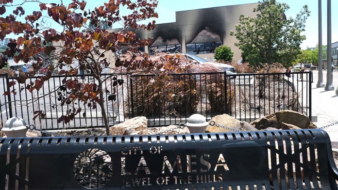 A historic La Mesa building occupied by Randall Lamb's company was destroyed by a fire in La Mesa.