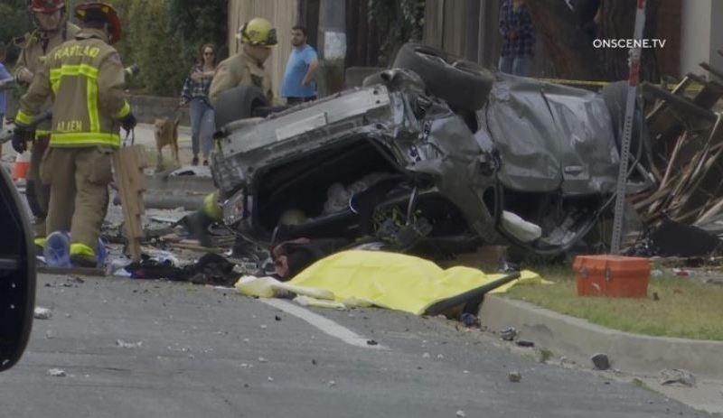 Wreckage in El Cajon