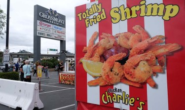 With the San Diego County Fair canceled this year, the iconic Chicken Charlie's food stand has shifted to Grossmont Center to satisfy deep-fried food fans.