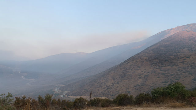 Smoke from Border Fire