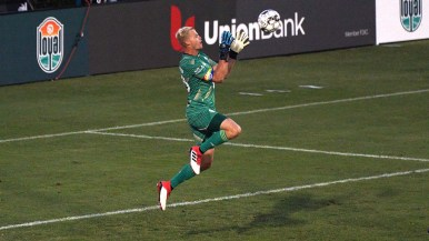 San Diego goalie Jon Kempin made key saves and was credited by Loyal coach Landon Donovan of keeping San Diego in the game.