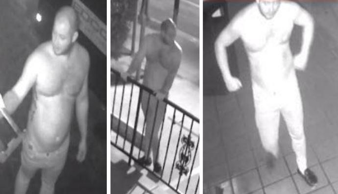 Surveillance images of arson suspect