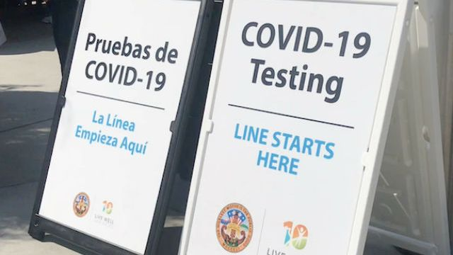 COVID-19 testing signs