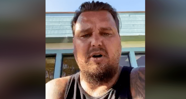 """Justin Haskins of Defend East County said his group was """"not a crew, a gang, a militia .... Literally it's a Facebook group where everybody in the community can get information and help defend and support our community."""""""