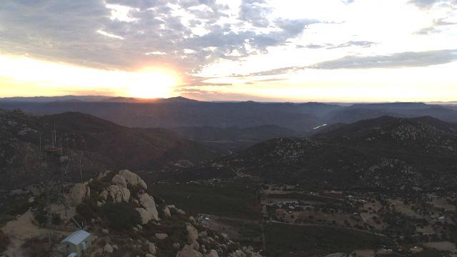 Sunrise on Thursday from Lyons Peak