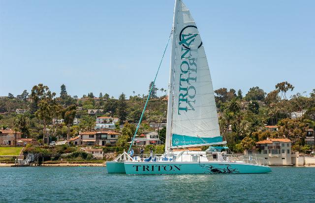 Triton cruises off Point Loma
