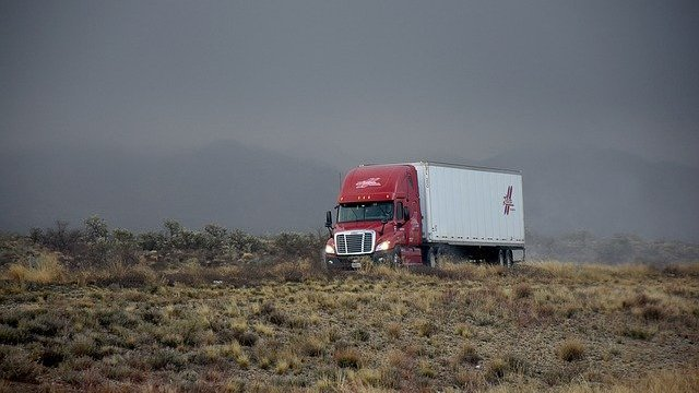 A big rig on the highway