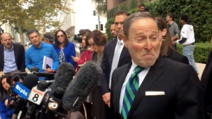 Phillip Halpern turns to acknowledge fellow prosecutors