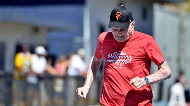 Pellmann, setting a world record for the M100 age group in the 100 meters, never competed again after his September 2015 appearance at the San Diego Senior Olympics.