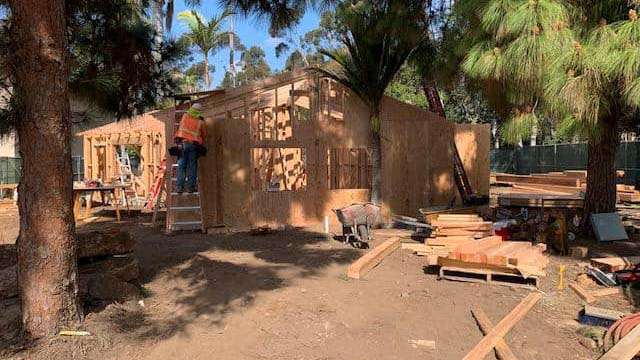 House of Mexico cottage under construction in late March in Balboa Park.