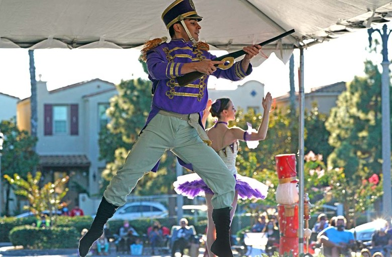 Tonatiuh Lopez Gomez performs as the Soldier Doll in the Nutcracker ballet in Liberty Station.