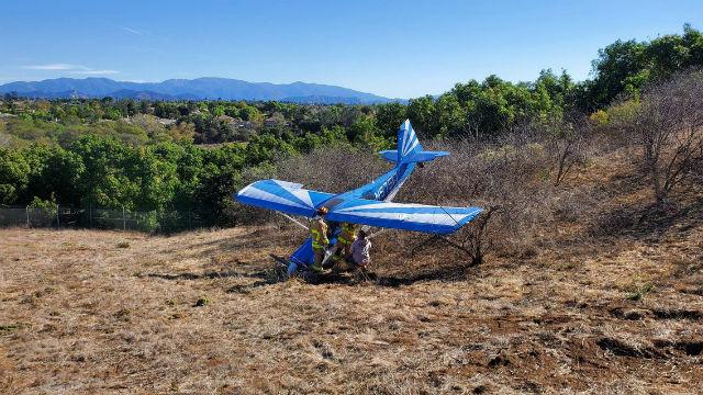 Plane makes hard landing