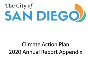 2020 San Diego Climate Action Plan report. (PDF)