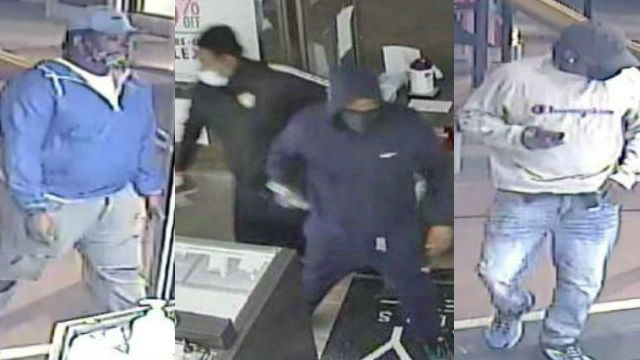 Surveillance images of suspects