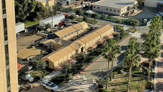 Field hospital in Orange