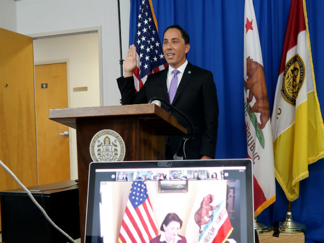 Todd Gloria takes oath of office