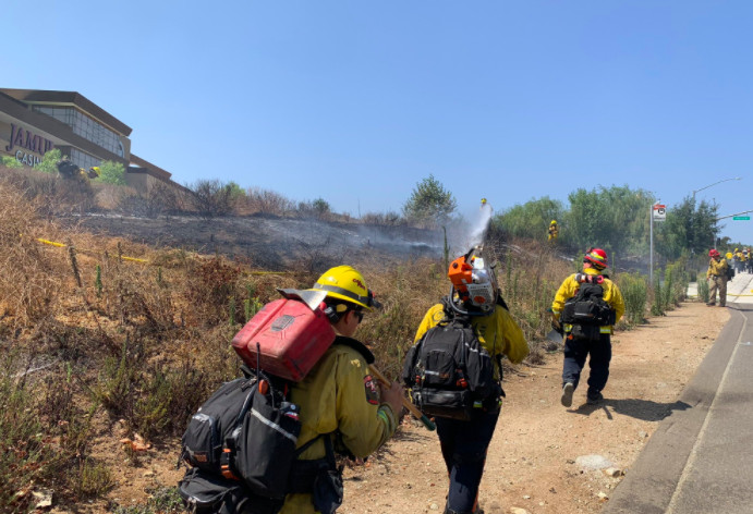 East County Brush Fire