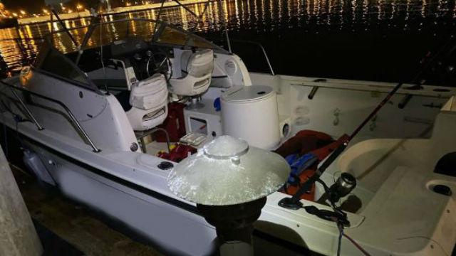Smuggling boat apprehended on Sunday evening