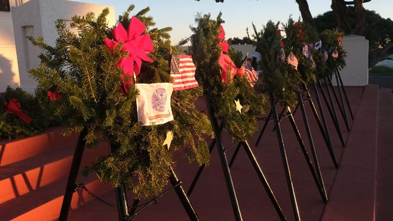 Wreaths dedicated to the different branches of the military were laid at Fort Rosecrans National Cemetery.